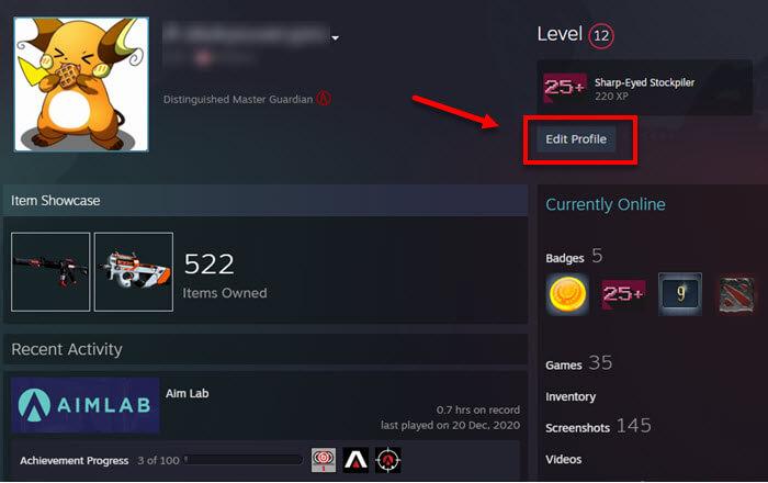 change apex legends name Steam